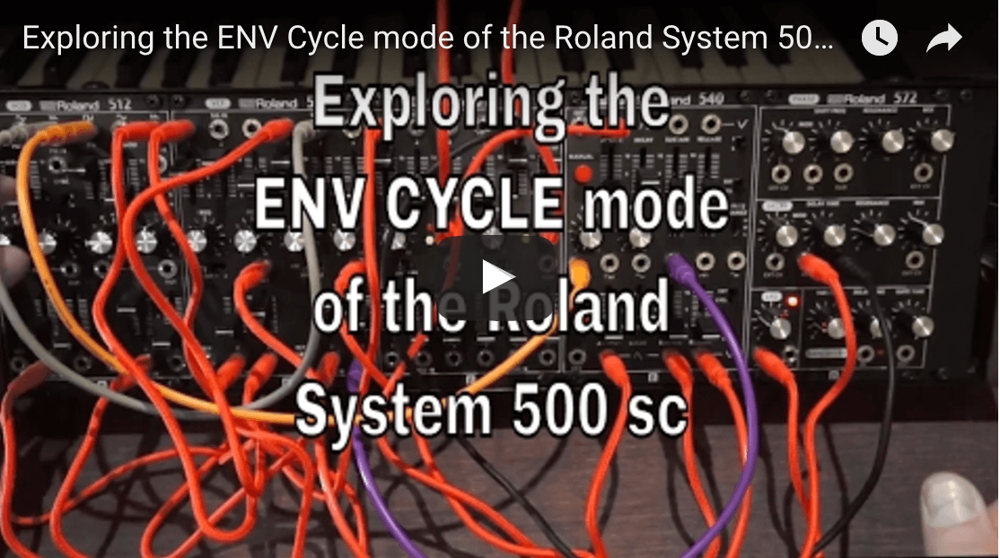Exploring modular synthesis with the Roland System 500