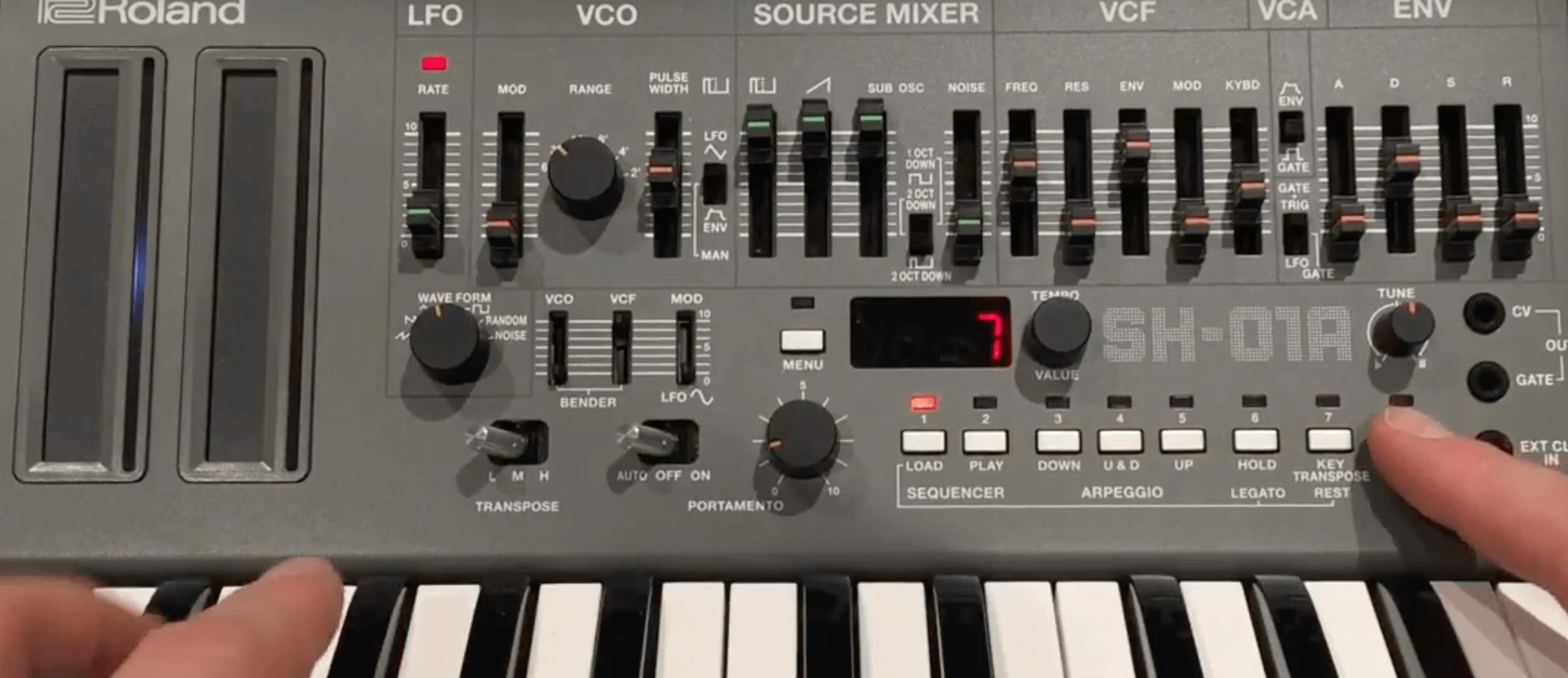 Roland SH-01a review, hidden features