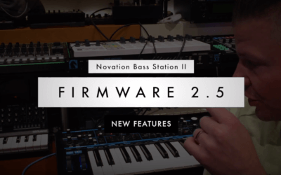 What is new in the Bass Station Firmware update 2.5?